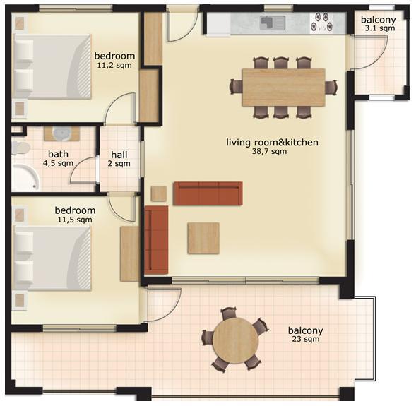 Indeling appartement